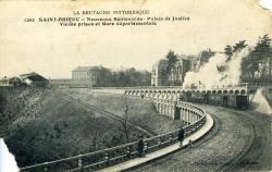 Nouveaux boulevards, palais de Justice, vieille prison et gare départementale  |