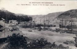 Bassin et port du légué, vue prise des Ligneries.   