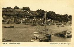Bateaux dans le port du Légué   