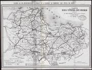 Carte des Côtes du Nord |