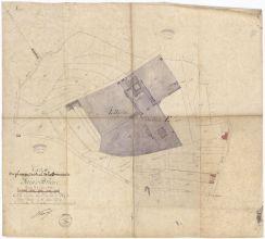 Extrait du plan cadastral de la commune de Saint-Brieuc. |