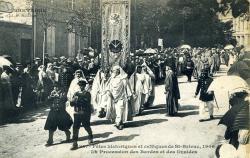 Fêtes historiques et celtiques de Saint-Brieuc La procession des bardes et des druides  |