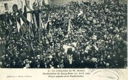 La réélection de M. Armez. Manifestation du Bourg-Blanc (25 avril 1910). Divers aspects de la manifestation  | Armez, Monsieur