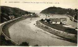 L'entrée du port du Légué et la tour de Cesson   