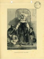 Costume de Saint-Brieuc vers 1830  | Kerangal, Emile