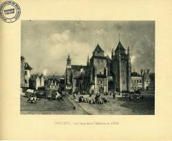 La place de la Préfecture vers 1830  | Kerangal, Emile