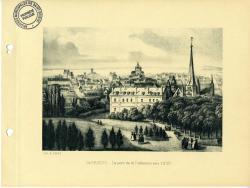 Le parc de la Préfecture vers 1830  | Kerangal, Emile